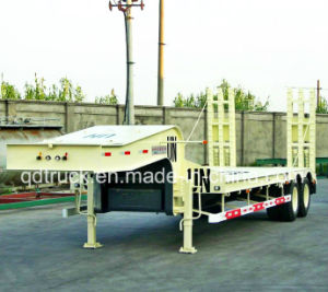 2 Axles Super Low Bed Vehicle Semitrailer pictures & photos