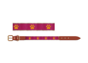 Dog Paw Webbing Pet Collar, Pink Collar pictures & photos
