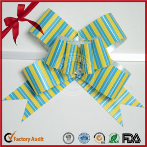 Gift Decoration Printed Striped Butterfly Pull Bow pictures & photos