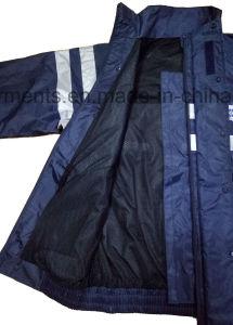 Men′s Protective Rainsuit Reflective Apparel Waterproof Garments Hiviz Suit Workwear pictures & photos