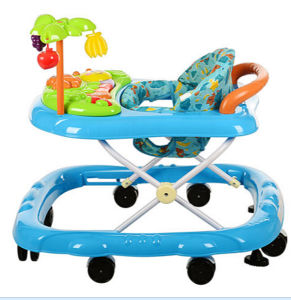 Pink Cute Baby Walker with Many Toys pictures & photos
