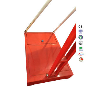 Red Movable Height Adjustable SMC Backboard Steel Base Basketball Stand pictures & photos