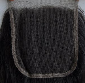 Middle/Free/3-Part Bleached Knots Brazilian Virgin Hair Lace Top Closure Swiss Lace Unprocessed Deep Curly Hair Lbh 271 pictures & photos