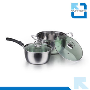 410 Stainless Steel Cheap Cooking Pot Set Cookware Set pictures & photos