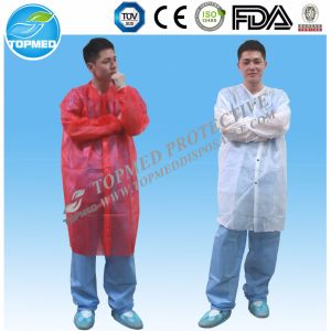 Disposable Lab Coat, PP Lab Coat with Velcros pictures & photos