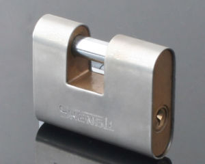 Rounded Edged Rectangular Padlock Iron Body with Cover Customize Accept pictures & photos