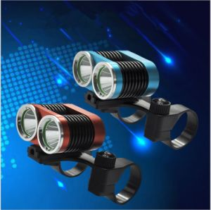2000lm IP-65 Waterproof 6063 Aluminum Alloy LED Bicycle/Bike Front Light pictures & photos