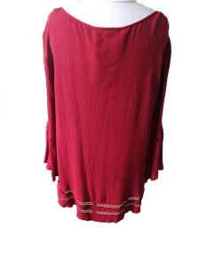 Linen Round Neck Lace Fashion Folk Style Ladies T-Shirt pictures & photos