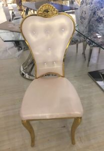 Hot Sale Golden Stainless Steel Dining Chair for Wedding Party pictures & photos