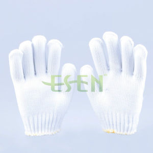 Natural Polyester Natural White Cotton Knitted Working Gloves pictures & photos