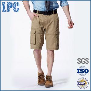 Custom Khaki Linen Baggy Men Bermuda Shorts pictures & photos