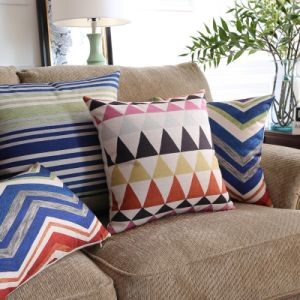 Reactive Printing Reasonable Cotton Linen Decorative Pillow Cases pictures & photos
