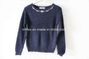 Round Neck Short Long Sleeve Sweater for Women pictures & photos