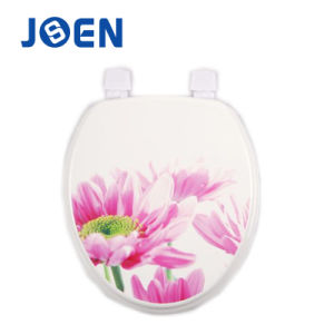 Factory Supply Printing Design MDF Moulded Wood Toilet Seat Cover pictures & photos