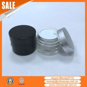 Hot Sale Glass Cream Jar with Aluminium Lid pictures & photos