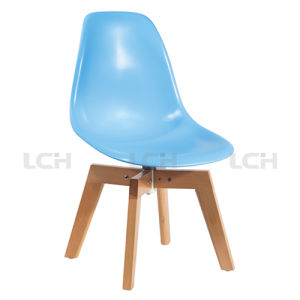Quality-Assured PP Seat Wood Legs Plastic Chair