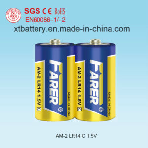 Super High Capacitance 1.5V Farer Super Alkaline Dry Battery (Lr14 Am2, C) pictures & photos