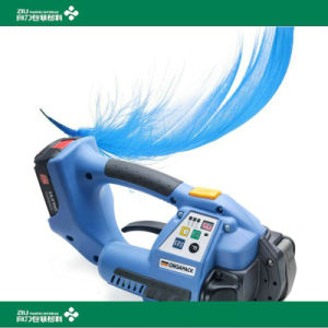 Portable Handhold Battery Power Tool Plastic Strapping Tool Electric Brick Packing Machine pictures & photos