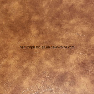 China Oil Wax PVC Faux Leather for Sofa Furniture Chair pictures & photos