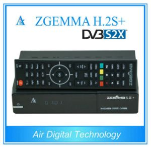Smart DVB-S2+DVB-S2/S2X/T2/C Triple Tuners Zgemma H. 2s Plus Linux OS E2 Satellite Receiver pictures & photos
