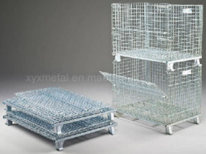 Warehouse Storage Folding Wire Mesh Stillage Container pictures & photos