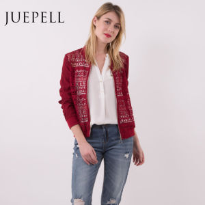 Latest Lace Leisure Bomber Women Jacket pictures & photos