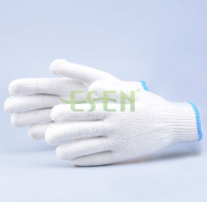 2017 Best Price Best Quality Raw White Bleached Knitted Cotton Gloves Working Gloves pictures & photos