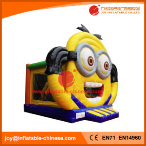Minions Theme Inflatable Jumping Bouncer for Amusement Park (T1-509) pictures & photos