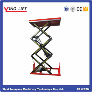 Stationary Three Scissor Electric Lift Table pictures & photos