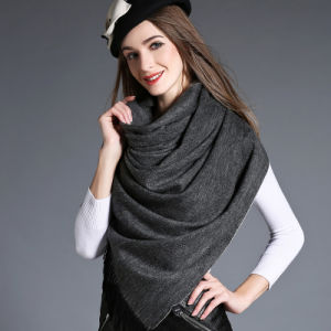 Wholesal Higher Quality 100% Cashmere Scarf Pashmina Grey