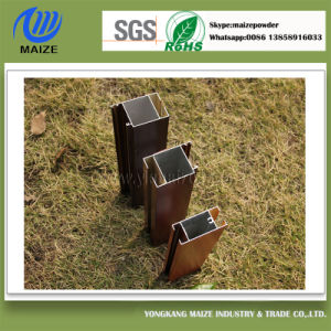 Premium Powder Coating Supplier of Wood Effect Aluminium Profile for Windows