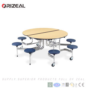 Orizeal Folding Mobile Cafeteria Table pictures & photos