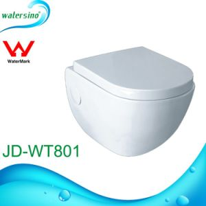 Bathrooom Sanitary Ware Wall Hang Round Design Ceramic Toilet with Cistern pictures & photos