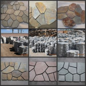 Hot Sell Specific Grey Slate Tiles with Mesh (SSS-87) pictures & photos