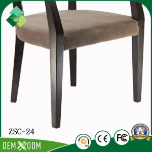 New Design Hotel Furniture Solid Wood Armchair for Restaurant (ZSC-24) pictures & photos