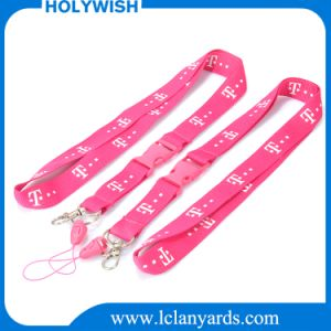 Promotional Printed Stripe Nylon Lanyard Custom Screen Printed Logo