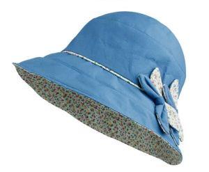 Children′s Reversible Floral Brim Hat pictures & photos