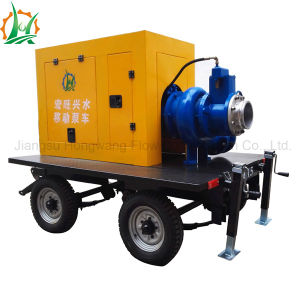 Mobile Diesel Engine Dry Run Self Priming Trailer Pump Station pictures & photos