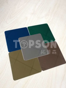 201 304 316 Stainless Steel Sheet with 8k Mirror Colored Metal Sheet for Decoration