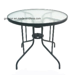 Garden Furniture Round Tempered Glass Table Water-Wave Tempered Glass Table pictures & photos