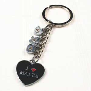 Promotional Gift -Metal Enamel Key Chains Rings Souvenirs with Malta Logo pictures & photos