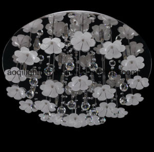 Hot Sale Crystal & Glass Flower Ceiling Lamp (AQ88095-D800) pictures & photos