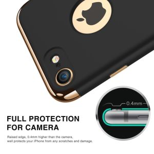 3-in-1 Ultra Thin Slim Hard Case Coated Non Slip Matte Surface Electroplate Frame for iPhone 7 pictures & photos