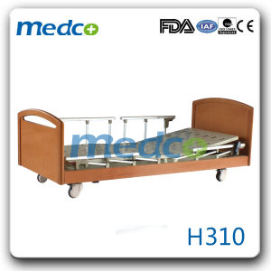 Three Functions Metal Unfolded Electric Home Care Bed pictures & photos