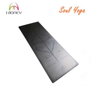 Non-Slip PU Yoga Mat with Custom Logo and Alignment Laser Etched pictures & photos