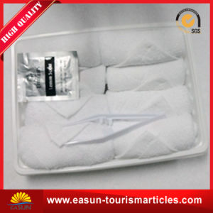 Disposable White Tray Cotton Face Towel for Airline pictures & photos