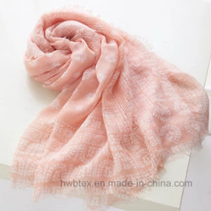 Wholesale Paisy Printed Linen Cotton Shawl / Fashion Scarf (HWBLC89) pictures & photos