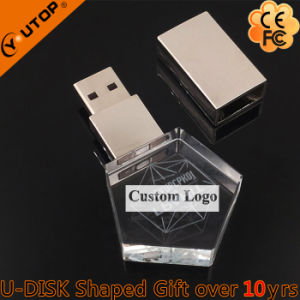 Promotional Gift Custom Carving Logo Crystal USB (YT-3270) pictures & photos