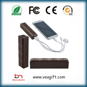 Chocolate Portable Power Bank 2600mAh Mobile Power Bank pictures & photos
