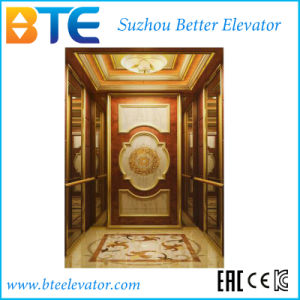 Luxuary Gearless Passenger Elevator with Aristocratic Cabin